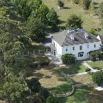 The Ambers B&B from the air