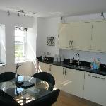 excellent kitchen with huge fridge/freezer and all you'd need to cook a Christmas diner!