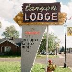 Canyon Motel sign, Highway 89, Panguitch, Utah