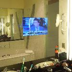  TV in the bathroom mirror