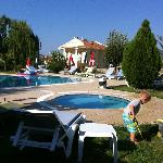 View of the pool very clean and tidy
