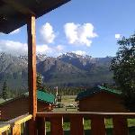 the view from the veranda of our cabin