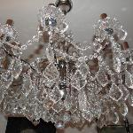  decorative chandelier in drawing room