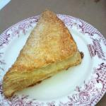 Apple turnover dusted with sugar