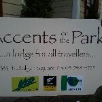 Accents on the Park Sign