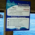 Rules for using Discovery Fishing Pier