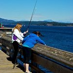 Anglers on Discovery Fishing Pier