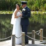wedding photo by the lake
