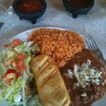 lunch special- chicken chimichanga and flauta looked good but no flavor