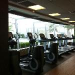 Fitness center - almost all brand new machines