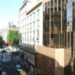  view out from the room to Champs Elysees