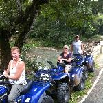 ATV stop at the river