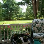 The sitting porch is delightful