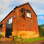  Our accomodation ( that was our window by the sign , lovely rural views