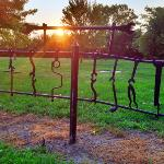 Fence made from wrenches!