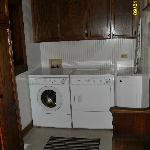  Laundry (detergent included!) Iron and small ironing board also.