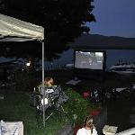family outdoor movie night