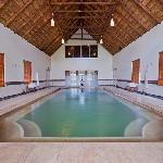 Heated indoor spa pool