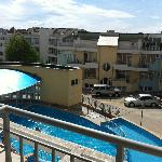  View over one of the pools from the apartment
