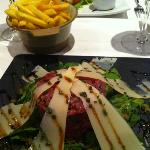 steak Tartare with Fries (excellent!)