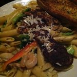 shrimp and chicken spicy pasta penne