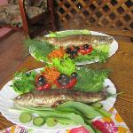  Fish dish at Aragats