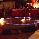 Fire dancing at Zorbas