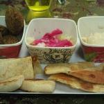 Falafel and hummus appetizer