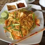 food server in the resort restaurant - yummy padthai