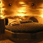 Cave room...really cool, great shower but uncomfortable bed