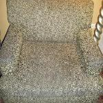 NASTY DIRTY CHAIR I HAD TO COVER TO SIT ON
