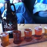 they had at least 15 beers on tap to choose from.  Our favorite, and selection for our growler r