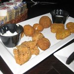 Appetizer with boudin balls