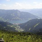 The view overlooking Zell am See