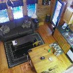  View of living room/kitchen from upstairs bedroom