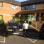 my mate Shaz with car at hotel