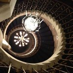 staircase - very charming - hotel has a lot of character (and a lot of rooms!)