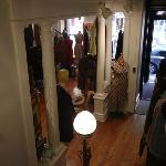 View to front door of the boutique