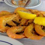 Boiled prawns. Cheap and tasty.