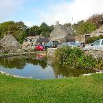 The duck pond in the village of Worth Matravers.