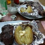 Mouthwateringly great steak and baked potato