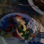 Greek Salad and Bread with Tzatziki