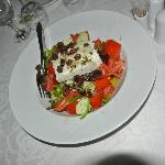 Greek salad with local olives