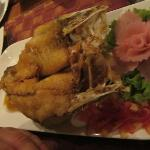 My deep fried Sea Bass, delicious!