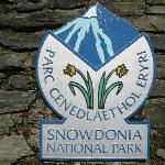 Snowdonia National Park sign opposite YHA