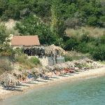 Nikos beach bar on the beach