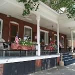 The famous front porch at the Hotel