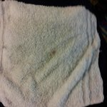 Wash Cloth dried blood from RM 227 at this Location