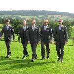  Groom, Bestman and Ushers pre wedding at Pitlands Farms