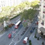  view from my room of the gran via catalunya